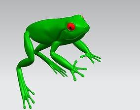 3D reptile model frog