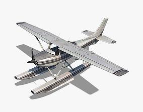 Cessna 182 Skylane Seaplane 3D model