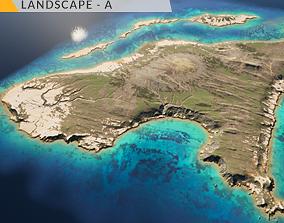 Island Landscape - A 3D asset game-ready