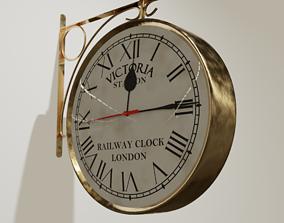 interior London Railway Clock 3D