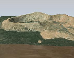 low-poly Caldera Blanca terrain 3d model