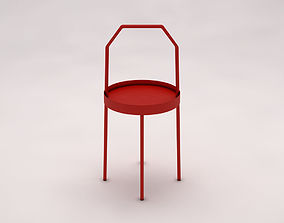 SIDE TABLE---Iron support with handle 3D