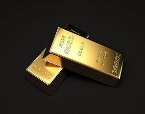 Gold Ingot 3D model