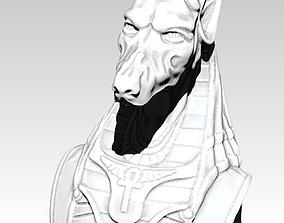 Anubis bust head dog detailed 3D print model