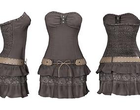 3D asset Bandeau Mini Dress