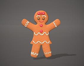 3D asset Gingerbread Girl