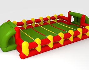 3D asset inflatable game foosball ballon football sport