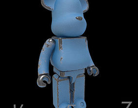 Old Metal Blue BearBrick 3D hobby