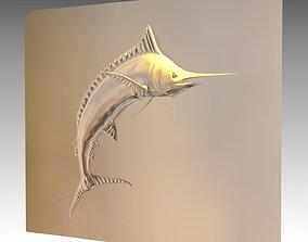 sculptures Blue Marlin Print Model