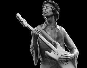 3D printable model Jimi Hendrix