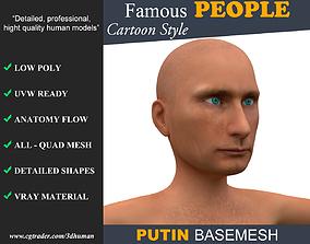 Low poly Character Cartoon Basemesh - Vladimir 3D model
