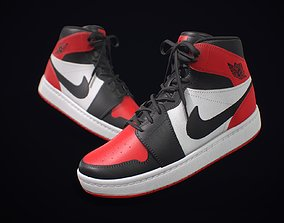 3D model Sneaker Nike Air Jordan Red White