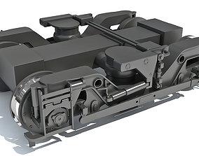 Train Wheels Bogie 3D model