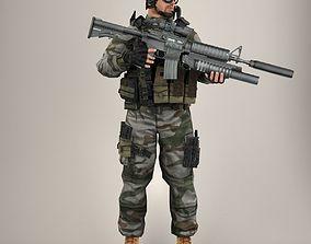 Soldier Lite V1 Rigged 3D model