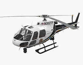 AS-350 Tulsa Police 3D model realtime