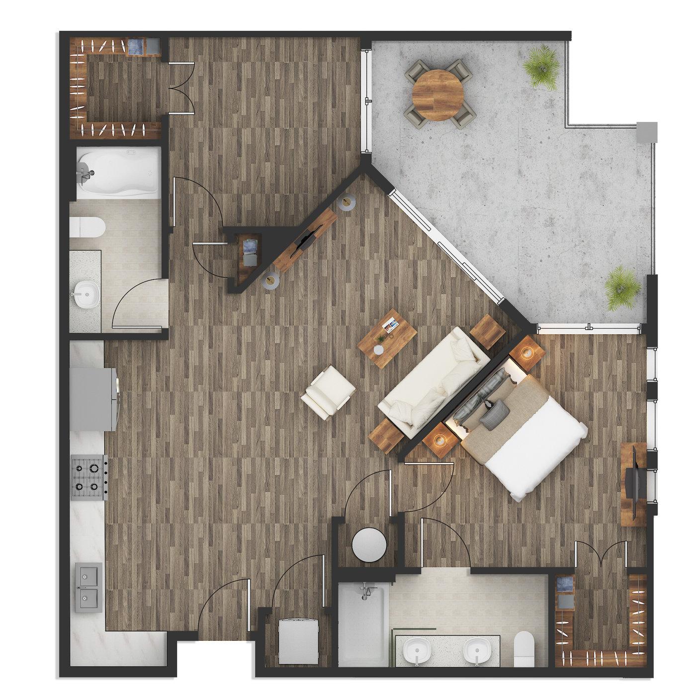 2d Floor Plan Rendering Illustration Services For Real Estate Developer Cgtrader