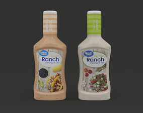 dip 3D model Great Value Ranch Dressing and Dip