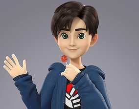 Cartoon Teenager Boy 3D model