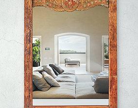 Vintage Balinese Mirror 3D model