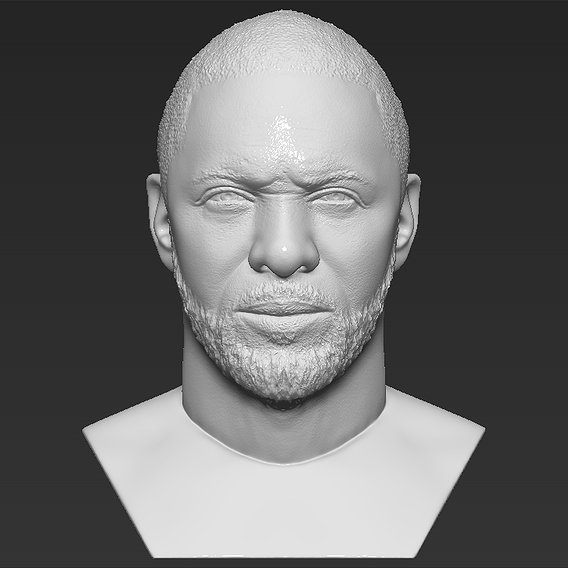 Idris Elba bust for 3D printing
