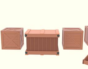 3D model Low Poly Cartoon Crates