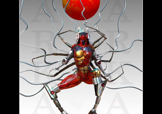 spider-tech woman
