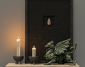 3D Decorative set with a dragon