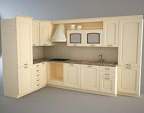 Modular Traditional Kitchen set 3D