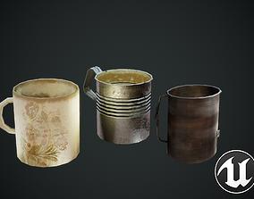 3D asset Mugs Old