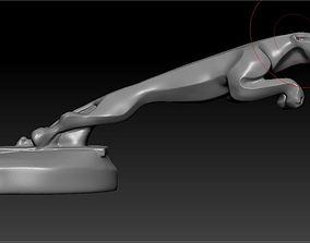 Figure jumping jaguar 3D printable model animal-statue