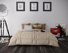 Bedroom 03 with Modern Details 3 3D model
