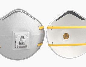 Mask Particulate Respirator 8210 3D asset