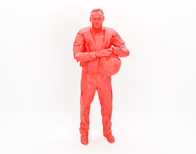 Police officer 001- low poly -3Dprintable