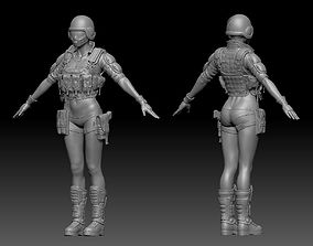 3D model Woman Warrior ZBrush raw file