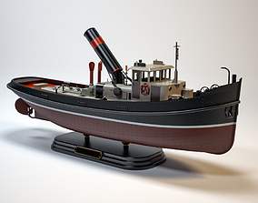 Dutch Steam Tugboat Model Kit 3dprintready