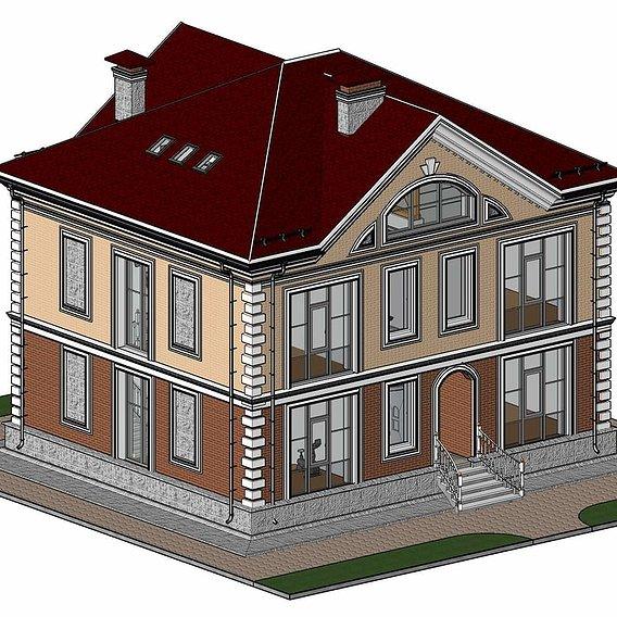 House Modeled in Revit