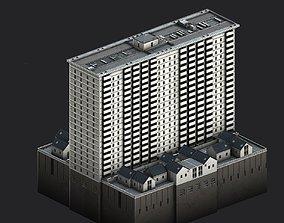 Davis Court 3D asset low-poly