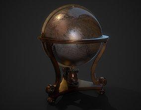 3D asset low-poly Medieval globe