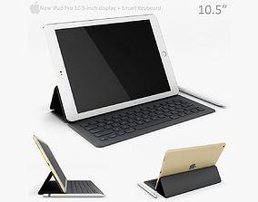 3D model Apple iPad Pro 10 5 Inch with smart keyboard