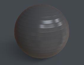 PBR Yoga Ball - Grey 3D asset