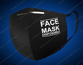 Protective mask and its composition 3D model