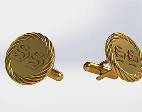 Cufflinks 3D printable model gem