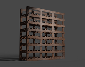 Dusty Wine Rack 3D asset low-poly