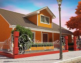 Family House Exterior 3D