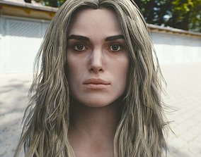 3d model Keira Knightley head V2 VR / AR ready celebrity
