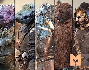 3D asset Animals Warrior Pack