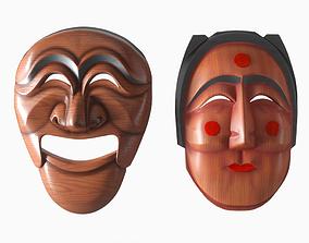3D Korean Masks Hahoetal and Bunetal