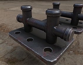 3D model Mooring Cleat - Low and High