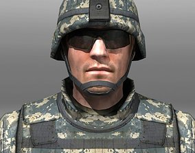 3D asset Modern Soldiers Us Soldier 1 and M4