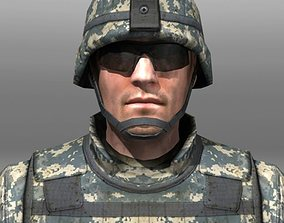 Modern Soldiers Us Soldier 1 and M4 3D model